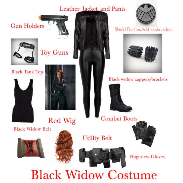 DIY Black Widow Costume                                                                                                                                                     More