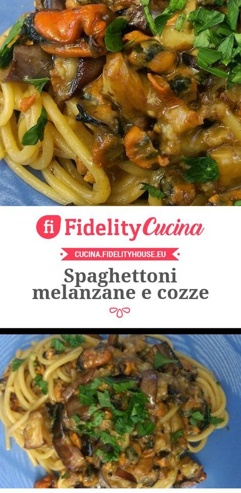 Spaghettoni melanzane e cozze