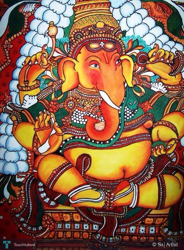 427 best mural painting images on pinterest mural for Mural ganapathi
