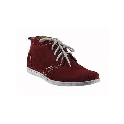 Pánske kožené topánky bordové - fashionday.eu