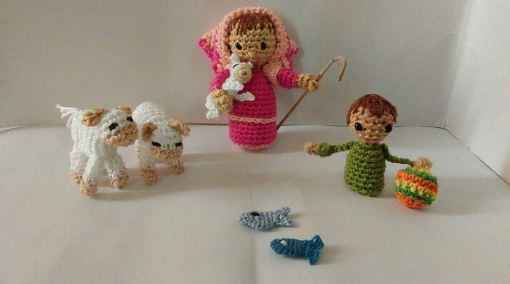 Figuritas amigurumi para el bel n pastorcita reba o - Figuritas para el belen ...