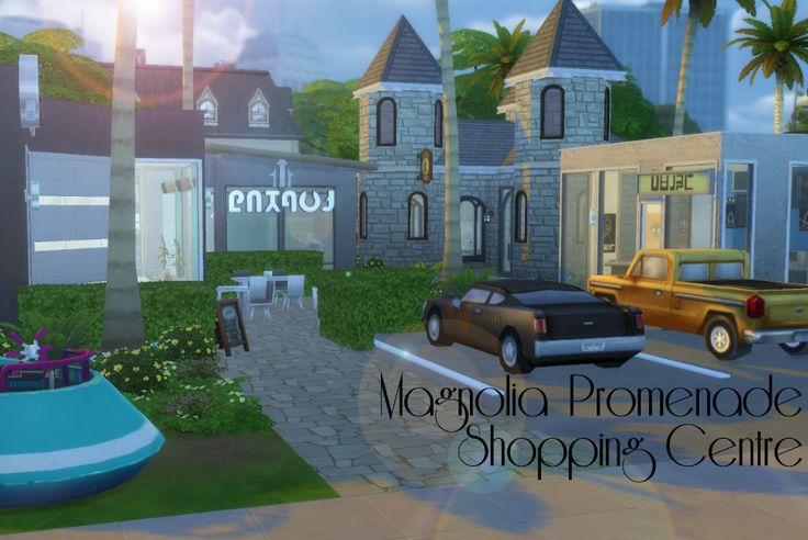 My Sims 4 lot build: Magnolia Promenade Shopping Centre by LiseHaidee Download it from the gallery and enjoy!