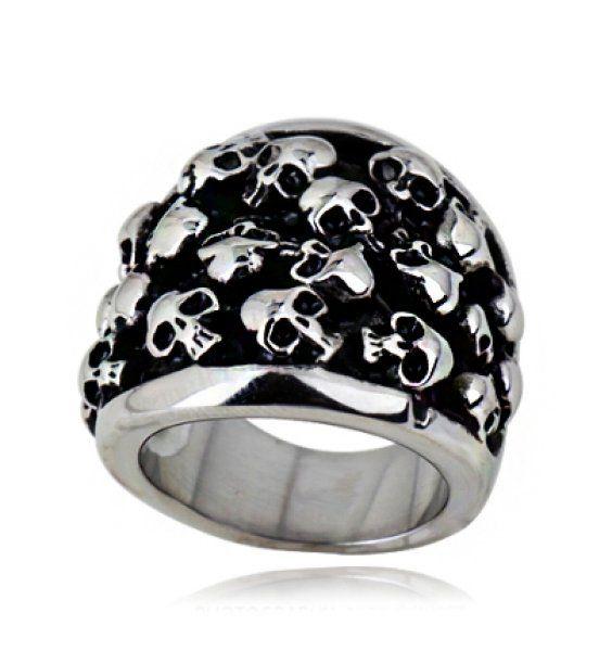 Cranio Purgatorio anello in acciaio inox