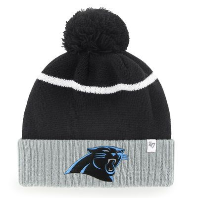 Men's Carolina Panthers '47 Black Chopblock Cuffed Knit Hat