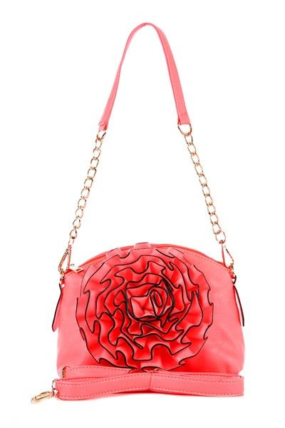 Little Bag With Flower  Flower is almost the same size as clutch