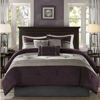 Shop for Madison Park Kennedy Plum Comforter Set. Get free shipping at Overstock.com - Your Online Fashion Bedding Outlet Store! Get 5% in rewards with Club O! - 18413549