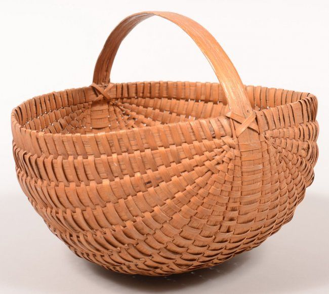 Woven Split White Oak Basket.