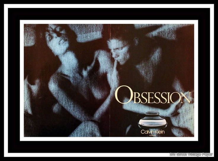 1986 Obsession by Calvin Klein Perfume Ad Double Wall Art