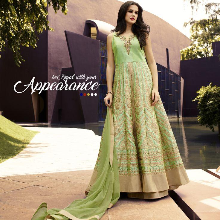#Designer #LehengaCholi #FreeShipping Double Tone Pure Raw Silk Fabric Indo-Western Designer Lehenga in Light Green Color Buy Now :- https://goo.gl/ReSgJO  CASH ON DELIVERY IN INDIA