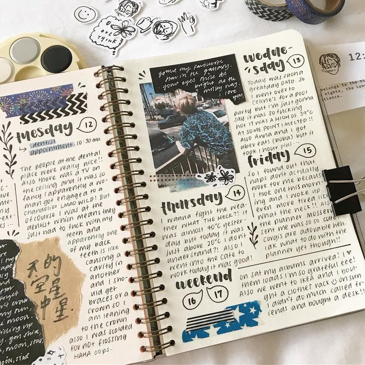Pictures Quotes :this weeks unfold in my @mosseryco planner and likewise that includes stickers from @its