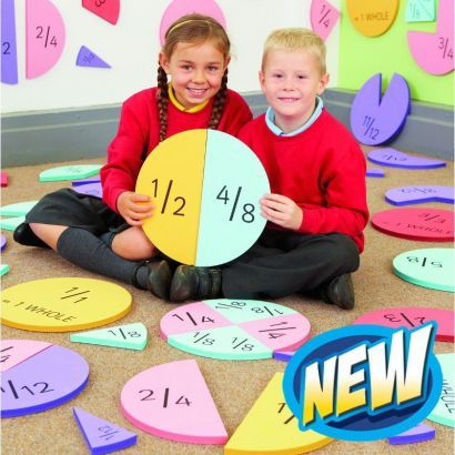 Supersize fractions set for KS1 maths activities outdoors
