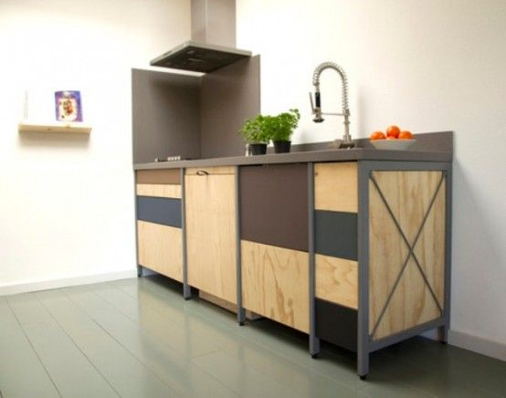 Constructive Kitchen With Industrial And Minimalist Touches | DigsDigs