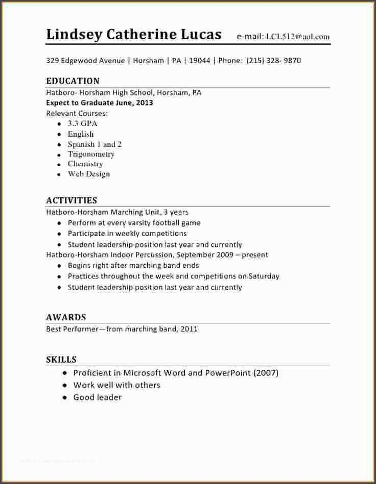 awesome5 first time student resume  job resume examples