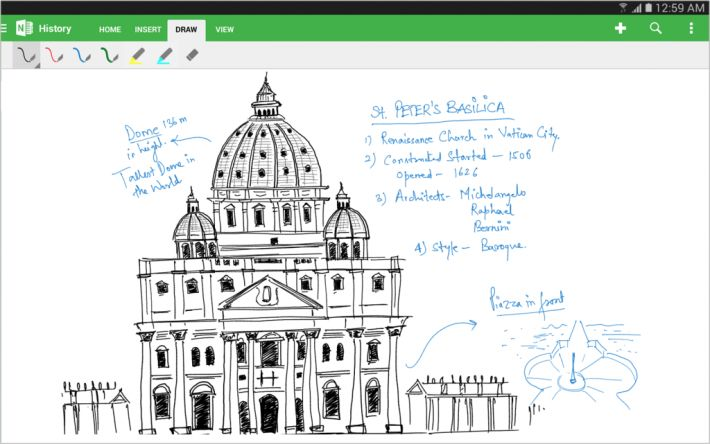 OneNote for Android updated, adds tablet UI and handwriting recognition