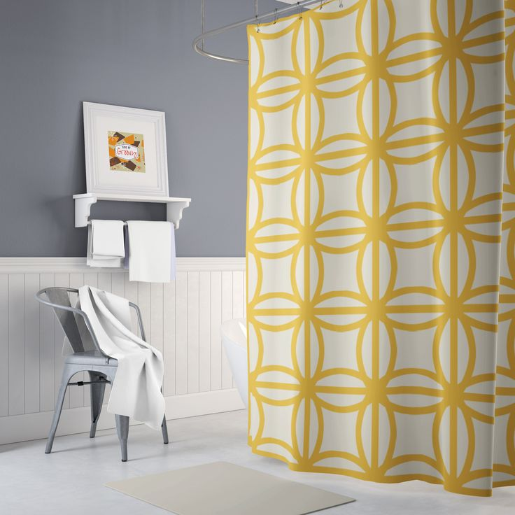 Plain Retro Shower Curtain Cool Mid Century Vintage For Design Ideas