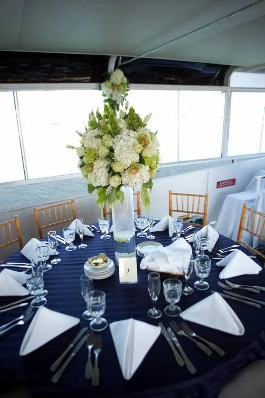 Wedding Centerpiece Nautical Theme Hornblower Cruises Events Newport Beach CA