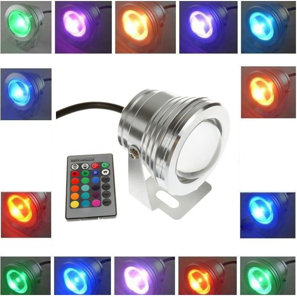 Unique W v Under Water RGB Waterproof LED Pool Light With Remote Control