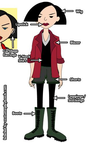 Dress up as Jane Lane and the rest of the #Daria cast! Full #costume guides at: http://costumeplaybook.com/tv-shows/3061-daria-costumes/