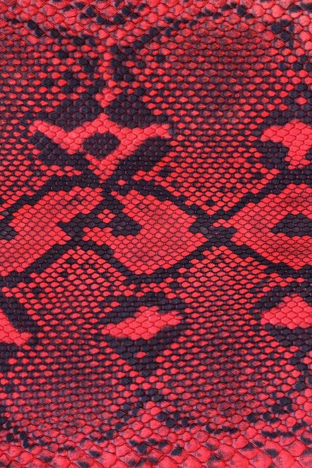 Neon Animal Print Wallpaper Red And Black Snake Skin Iphone Smartphone Wallpaper