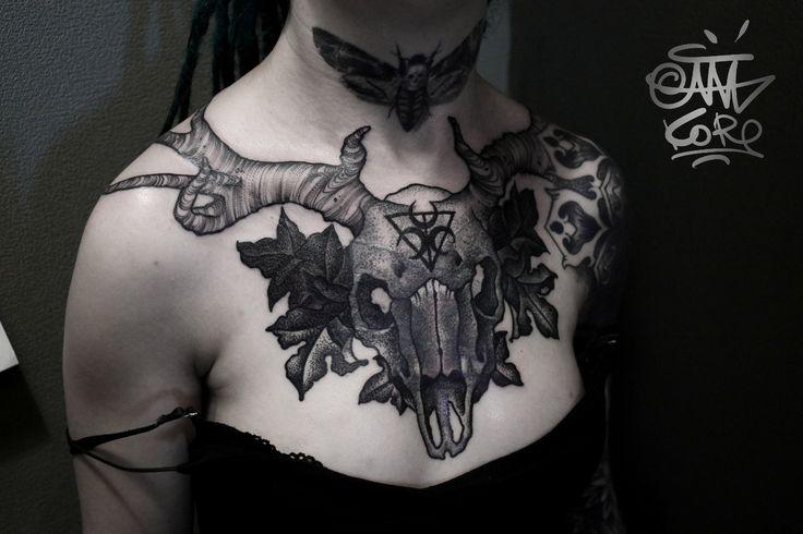 Череп Мастер Аня Корь Адрес: ст. м. Парк Победы, площадь Чернышевского, 10. Тел: 8-921-941-76-40 #tattoo #tattoos #tattooed #ink #inked