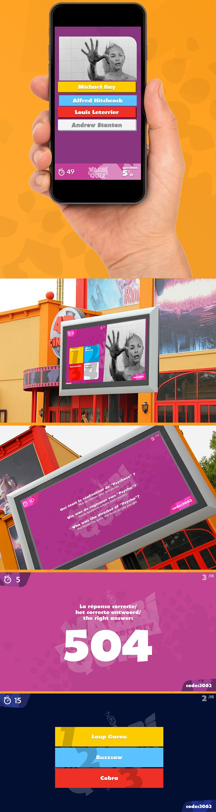Interactive #quiz is enabling customers a queue jump option. While standing in the queues using their #smartphones - compete against each others in the queue line and get a chance to win a quick access to the ride. Questions are displayed on the large screens installed in the park. Multiple visitors use their smartphones to connect with the screens (via #Websockets protocol). After every 15 questions winner is announced.