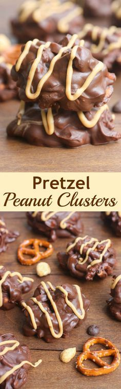 These delicious, no-bake, chocolate Pretzel Peanut Clusters take just minutes to make and are the perfect bite-size treat!   Tastes Better From Scratch