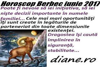 Potrivit horoscopului Berbecului din luna iunie 2017 eşti înclinat să te concentrezi pe cămin, ai posibilitatea să-ţi imbunătăţeşti relaţiil...