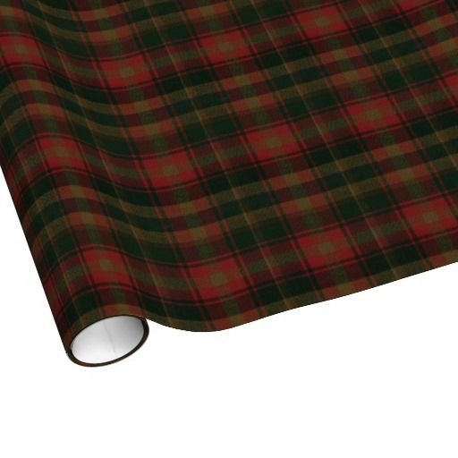 Canadian Maple Leaf Tartan Wrapping Paper