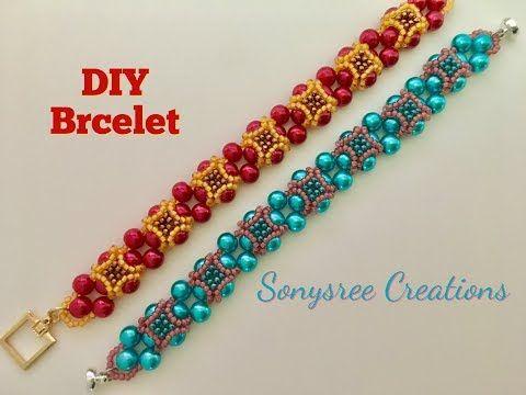 Peacock Eyes Bracelet. How to make beaded Bracelets.DIY projects - YouTube