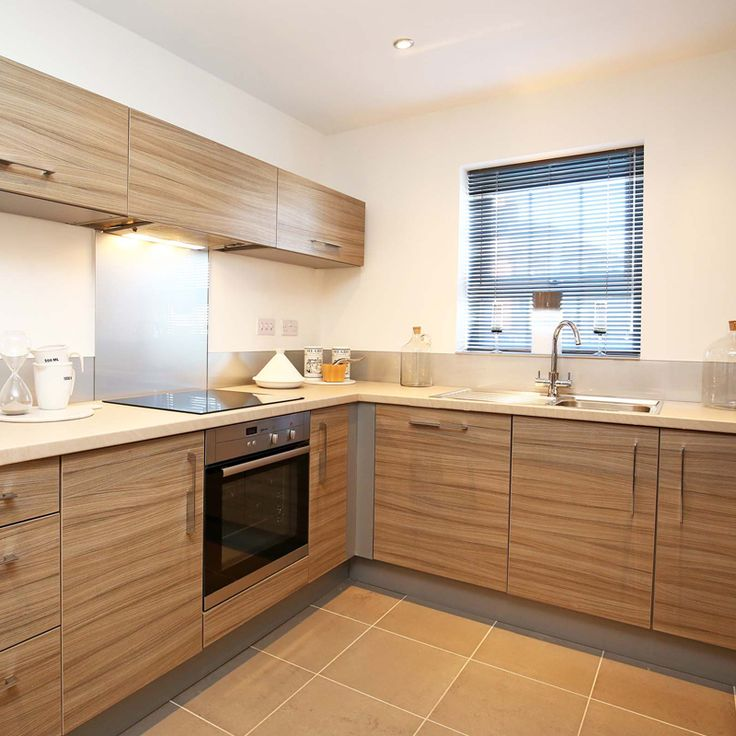 The light and airy kitchen with open plan living and dining area in the three bed Roma.
