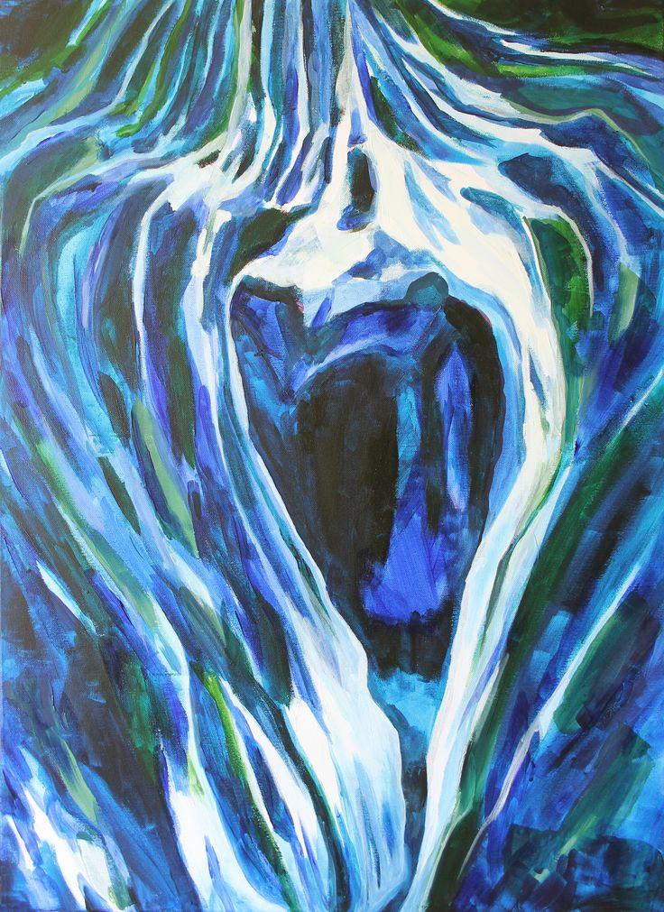 Cave by Kateřina Veverková, painting