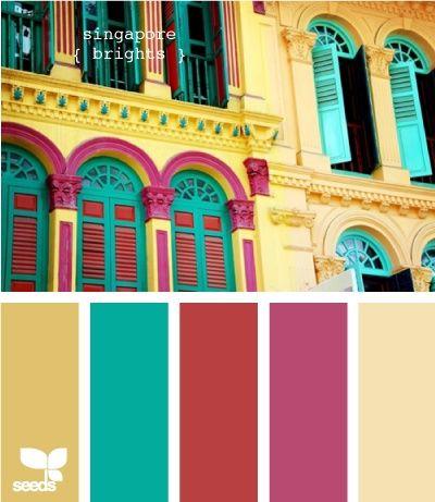 Achei linda a combinação de cores!