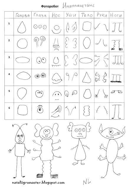 РИСОВАТелЬная игра ФОТОРОБОТ - РАСПЕЧАТАЙ и ИГРАЙ :: Игры, в которые играют дети и Я