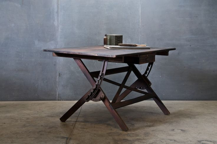 Stack Engineer Cantilever Drafting Table : 20th Century Vintage Furnishings & Design