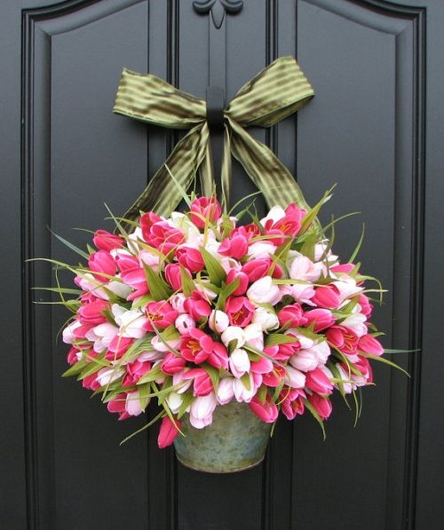 Brighten up your entry way with spring flowers! - Find great decor items at Kmart, Macys, Kukui Grove Center, Kauai, Hawaii