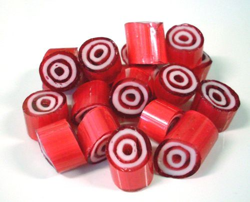 Rock Candy - Peppermint Bullseyes Candy - Australia wide delivery