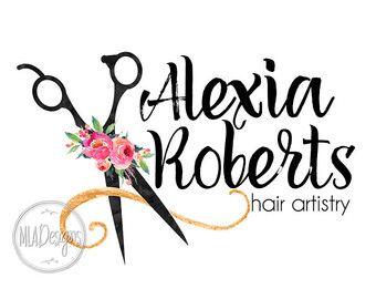 hair stylist logo watercolor logo makeup artist mladesigns