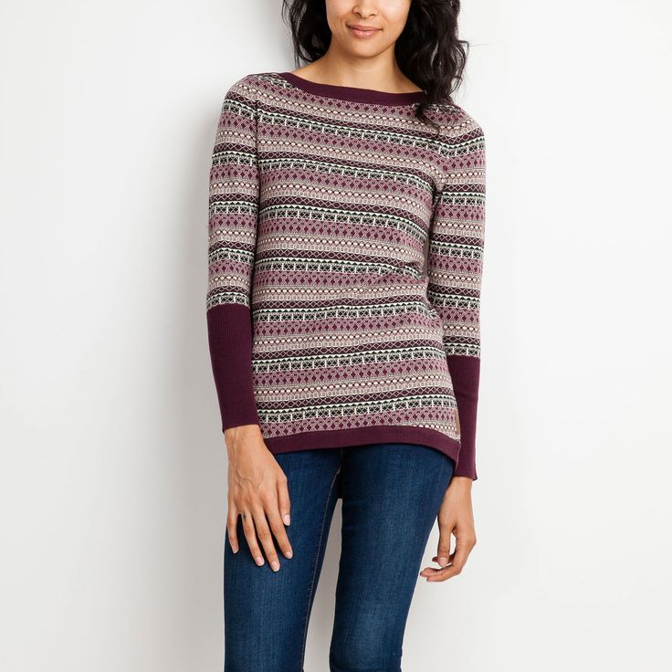 Fair Isle Bateau Top | Roots Sweaters for Women - On Sale $ 60.00