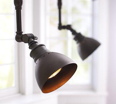 metal gallery spotlight track lighting potterybarn over fireplace basement lighting track lighting track