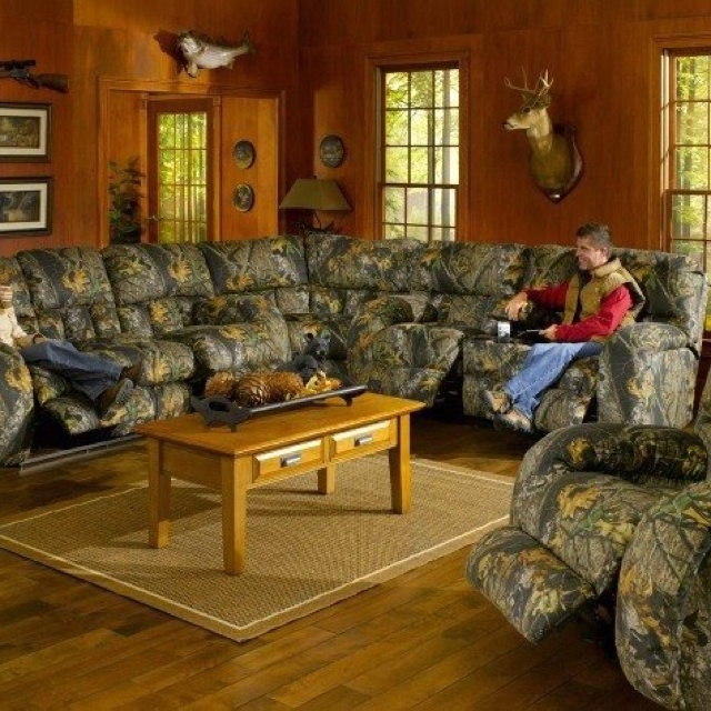 Camo living room set beautiful living room but that couch is way more than I could ever afford lol