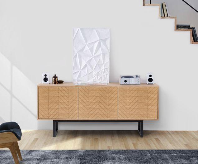 Design Sideboard Camden In Holzoptik Wohnzimmer Kommode Hausmobel Wohnzimmerdesign
