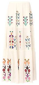 Melissa Odabash Pixi Embroidered Maxi Skirt