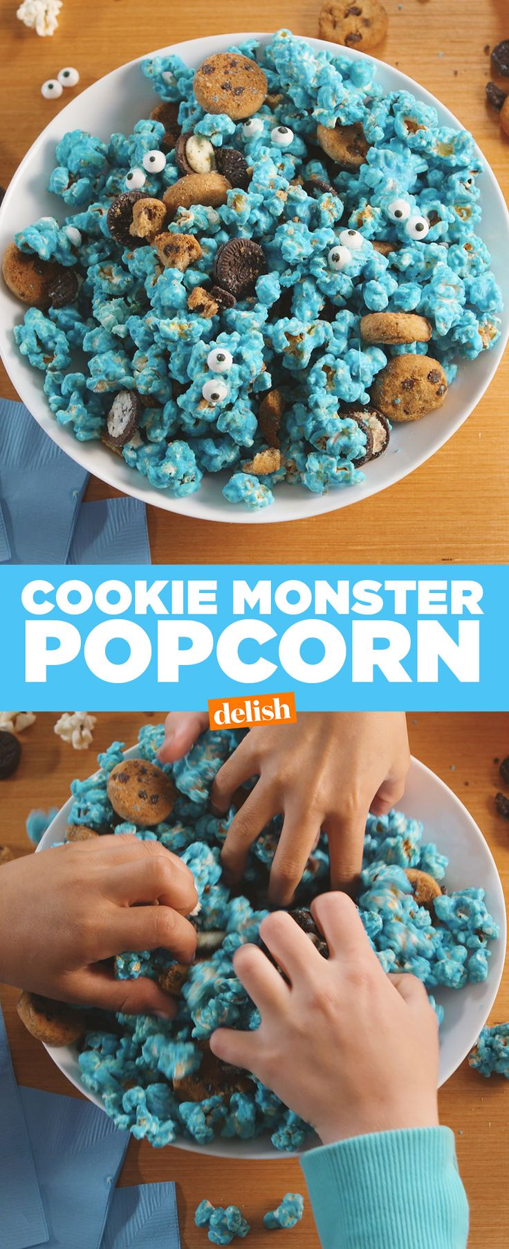 Cookie monster fans: you'll freak over how adorable this snack is. Get the recipe at Delish.com.