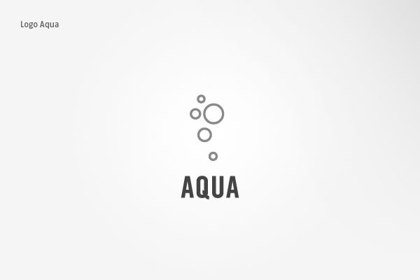 Aqua Logo by Sascha Elmers, via Behance
