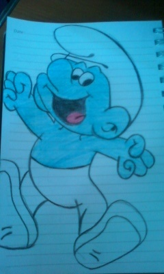 SMURF! #smurf #drawing #art