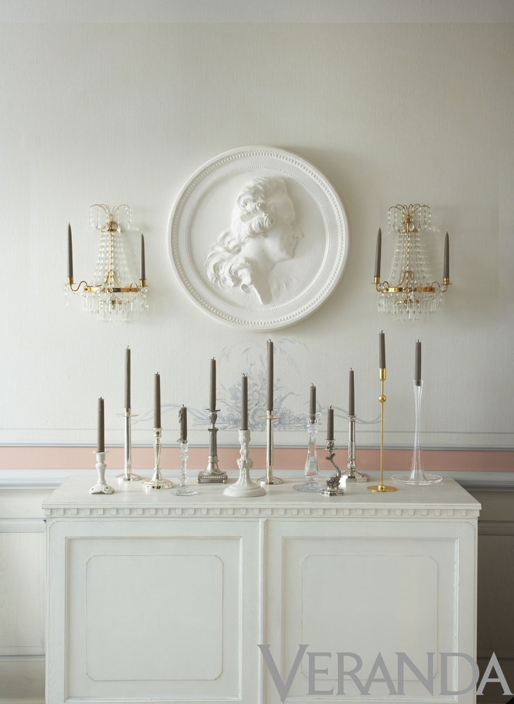 From a candlestick story Veranda did in 2011. I've always loved those Swedish medallions.