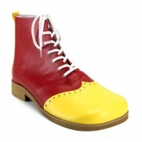 Wing Tip Red and Yellow Leatherette Clown Shoes: $64.50