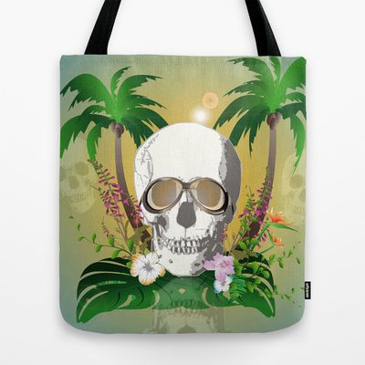#Skull with #sunglasses a #Tote #Bag by nicky2342 - $22.00