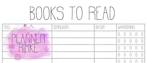 Write down your books to read! A5 - Dutch Language
