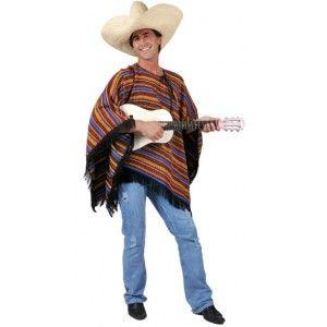 Déguisement poncho mexicain adulte, Déguisement mexicain homme, carnaval, fêtes, western, Mexique